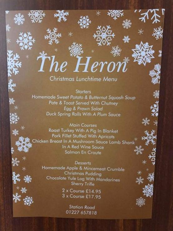 Christmas Lunchtime Menu
